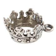 Crown 3D Sterling Silver Charm